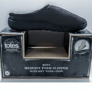NEW Totes Memory Foam Men's Slippers Size 8/9 US
